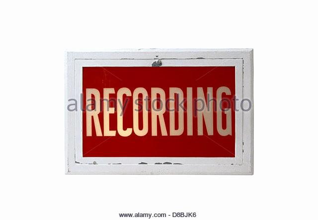 Recording In Progress Door Sign Best Of Recording Studio Warning Light Stock S & Recording