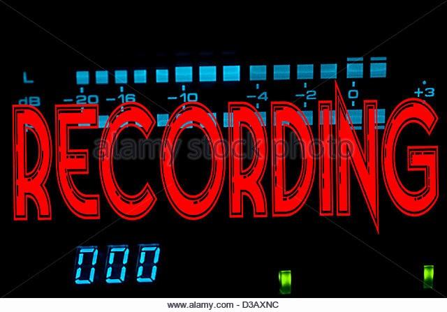 Recording In Progress Door Sign Elegant Recording Studio Warning Light Stock S & Recording