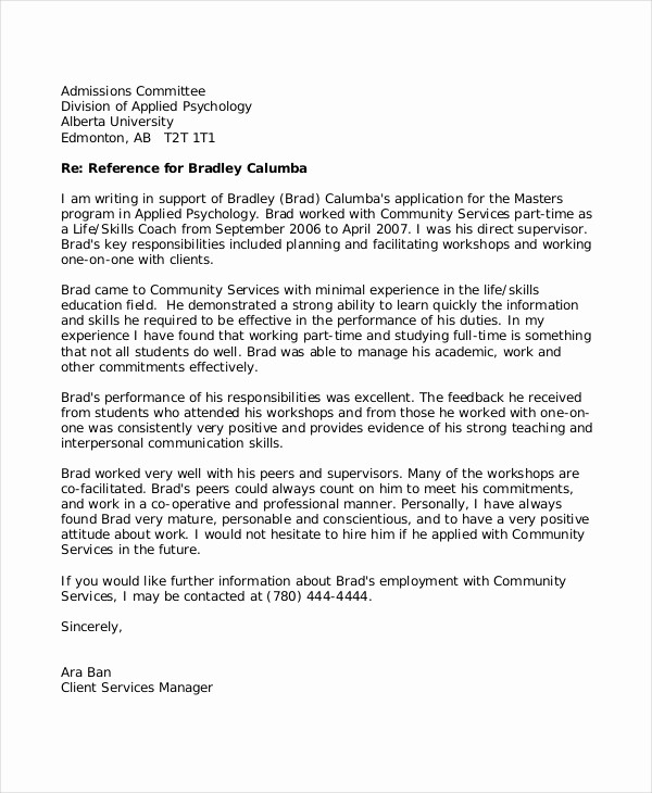Reference Letter Examples for Teachers Awesome 8 Reference Letter for Teacher Templates Free Sample