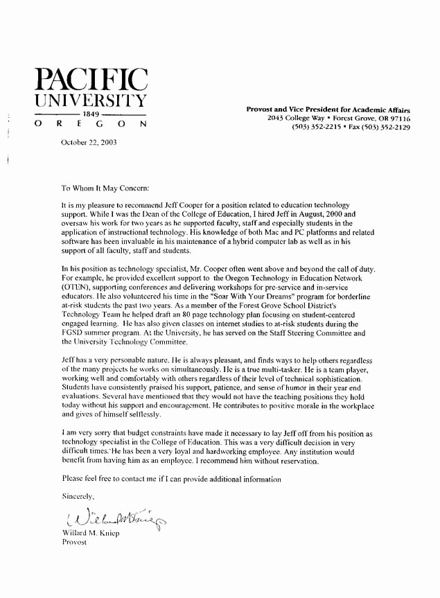 Reference Letter Examples for Teachers Elegant Sample Letter Of Re Mendation for Teacher
