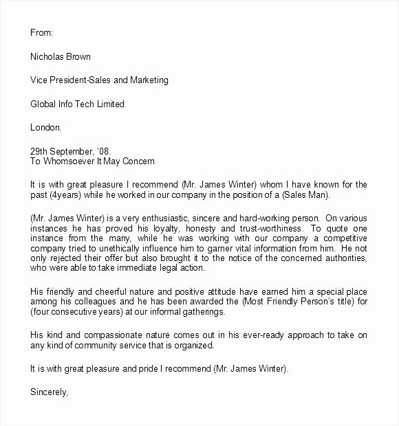 Reference Letter for A Coworker Awesome 15 Coworker Reference Letter Examples