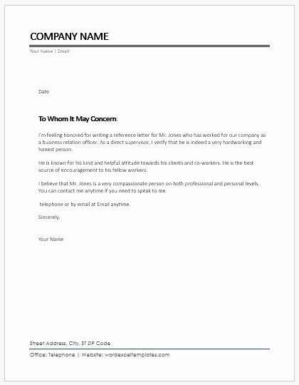 Reference Letter for A Coworker Best Of Character Reference Letter for Coworker