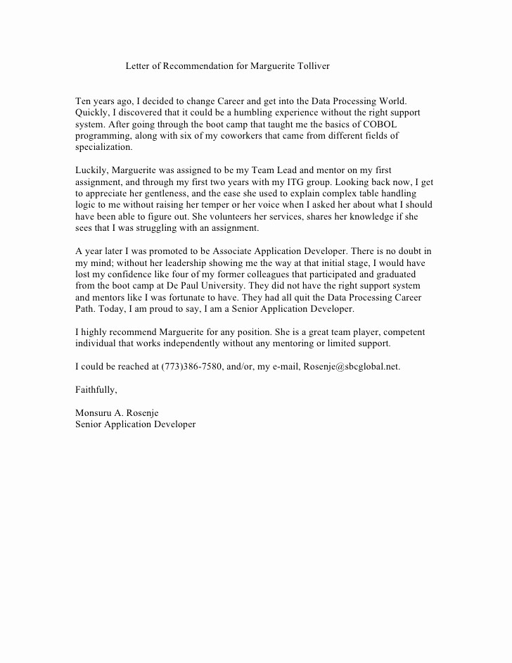 Reference Letter for A Coworker Inspirational Reference Letter From Co Worker