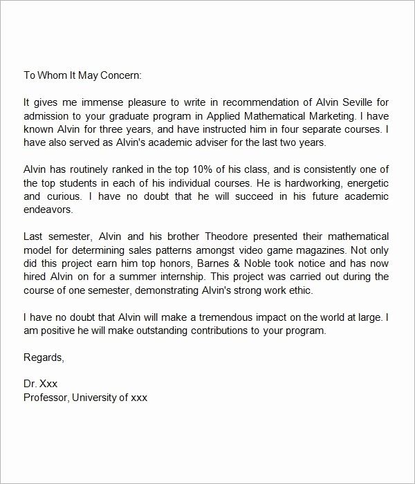 Reference Letter for College Admission Beautiful Reference Letter for University Admission Letter Of