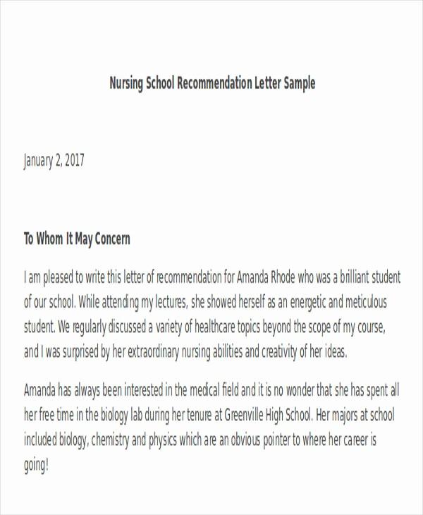 Reference Letter for College Admission Elegant 45 Free Re Mendation Letter Templates