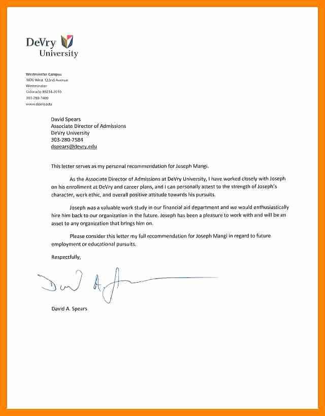 Reference Letter for College Admission Elegant College Admission Reference Letter