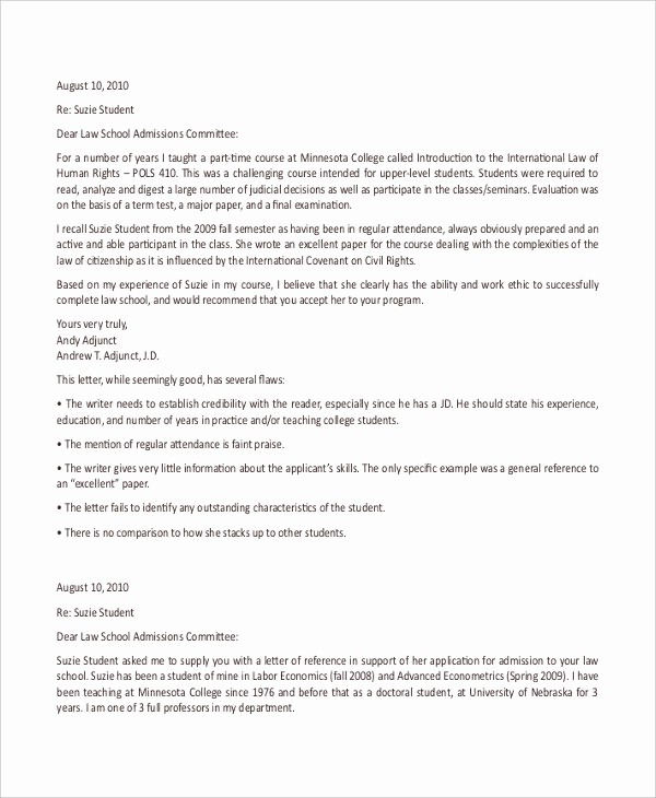 Reference Letter for College Admission Luxury 40 Re Mendation Letter Templates In Pdf