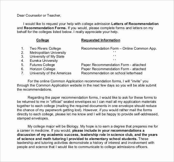 Reference Letter for College Admission New 35 Letters Of Re Mendation for Student Download for