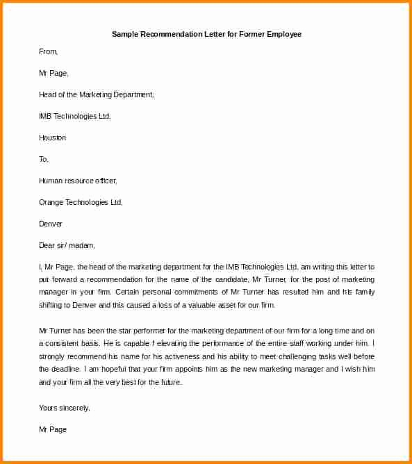 Reference Letter for Employee Template Awesome 7 Reference Letter for An Employee From A Manager