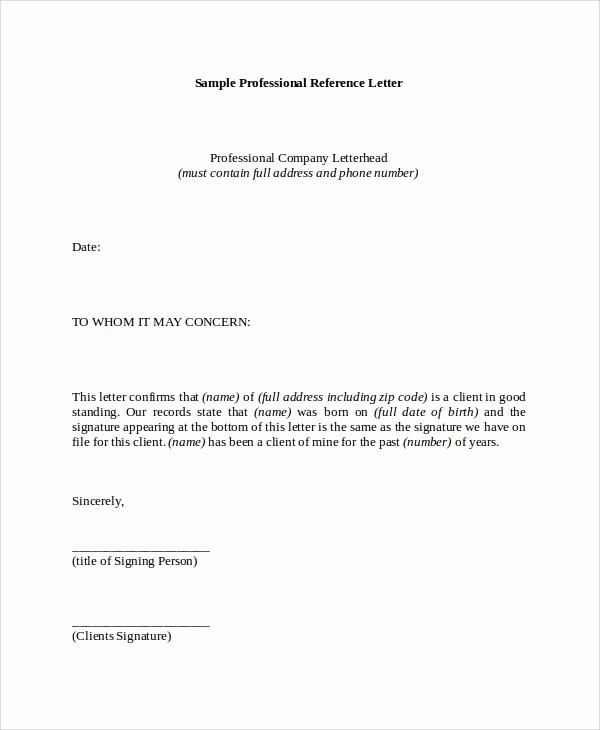 Reference Letter for Employment Samples Fresh 8 Reference Letter Samples – Pdf Word