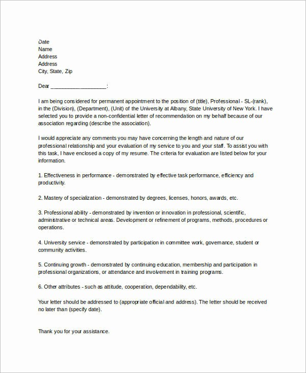 Reference Letter for Employment Samples Luxury 15 Sample Re Mendation Letters for Employment In Word