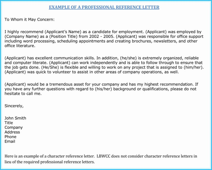 Reference Letter for Employment Samples New Nursing Reference Re Mendation Letters 9 Sample Letters