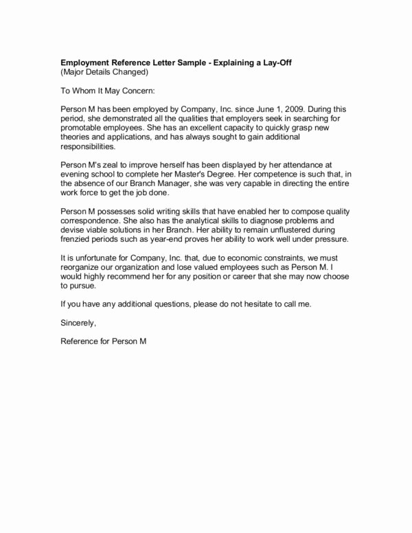 Reference Letter for Employment Template Elegant Guidelines for Writing A Good Re Mendation Letter