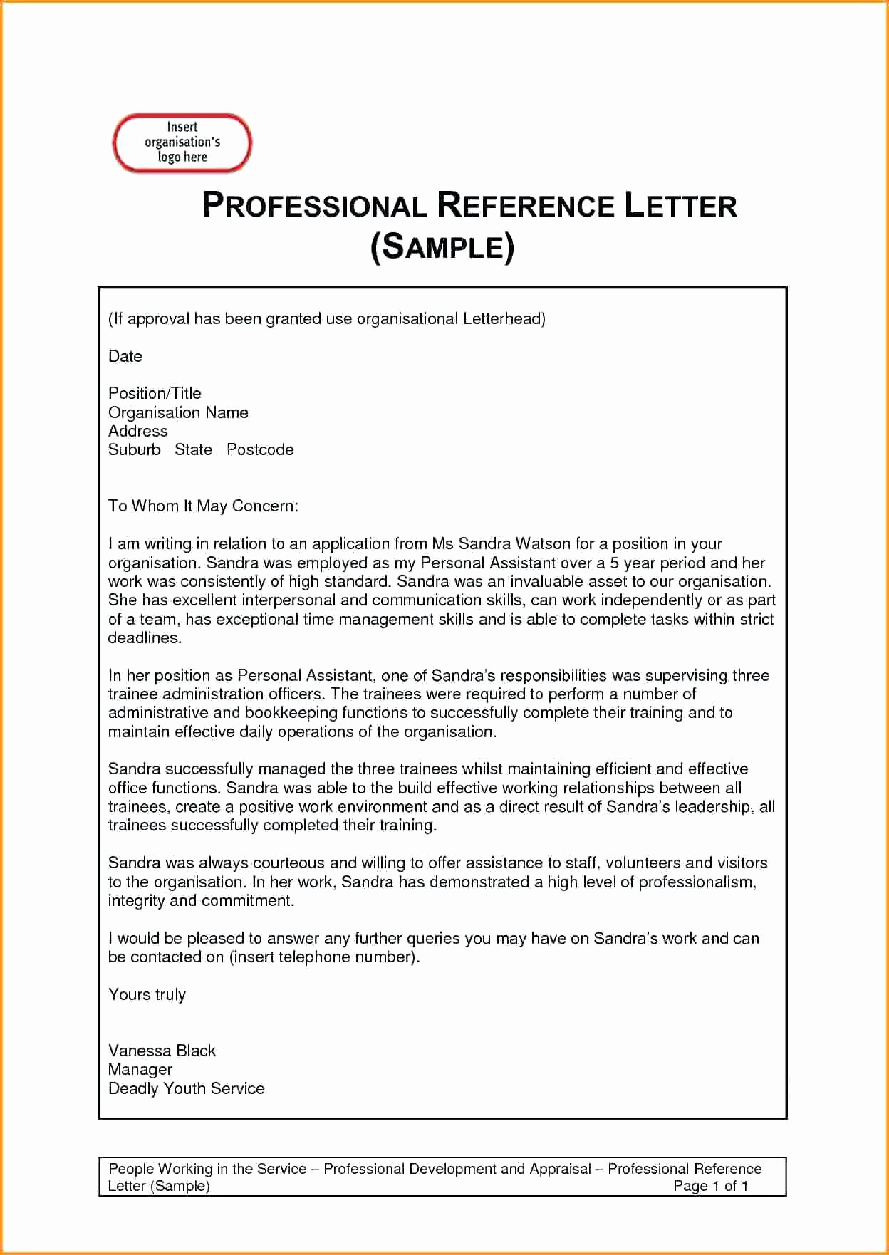 Reference Letter for Employment Template Fresh Template Employment Reference Template