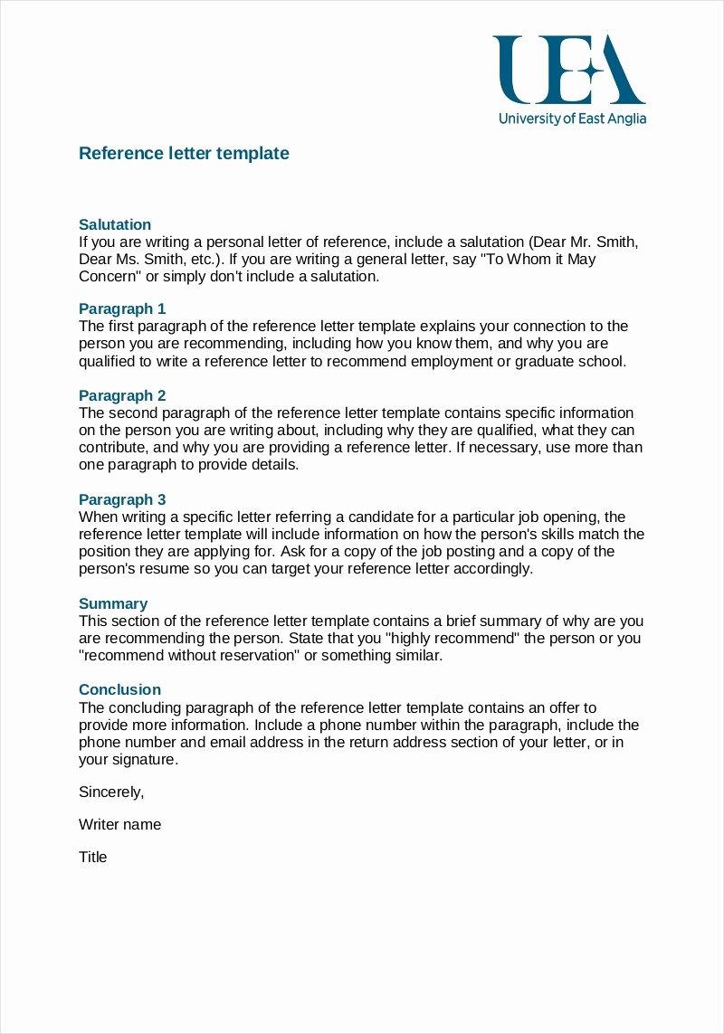 Reference Letter for Employment Template Luxury 9 Employee Reference Letter Examples & Samples In Pdf
