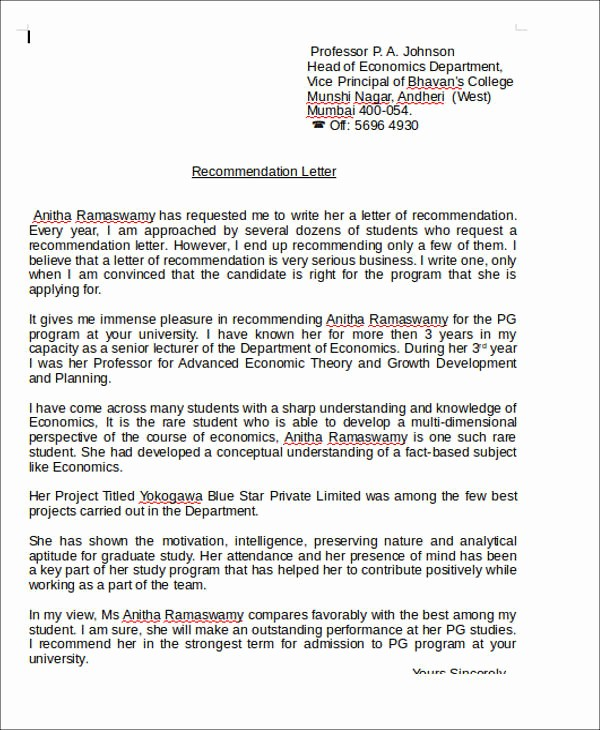 Reference Letter for Teaching Job Beautiful 6 Sample Teaching Position Re Mendation Letters