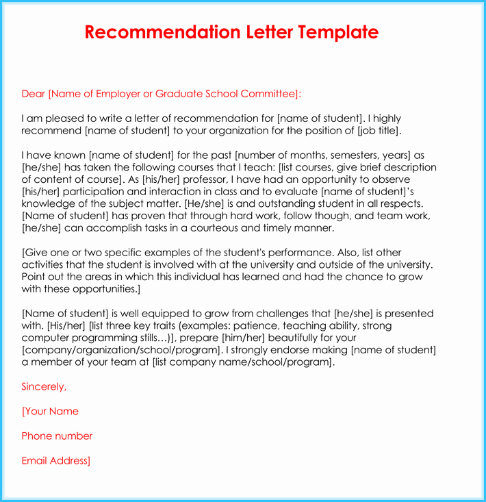 Reference Letter for Teaching Job Elegant Teacher Re Mendation Letter 20 Samples Fromats