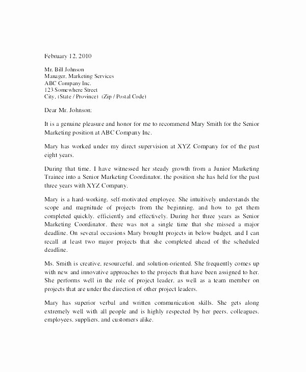 Reference Letter From Employer Doc Best Of Re Mendation Letter for Employee Endorsement Employment