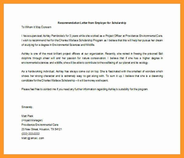 Reference Letter From Employer Doc Elegant Letter Of Re Mendation Supervisor