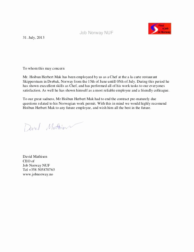 Reference Letter From Employer Doc Lovely Re Mendation Letter for Employee – Creero