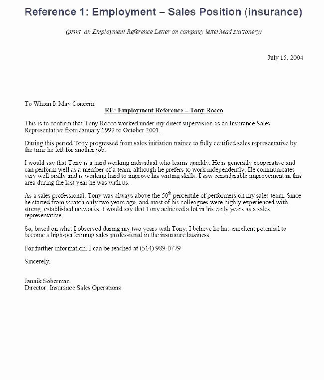 Reference Letter From Employer Doc Luxury Sample Re Mendation Letter for Job From Employer with