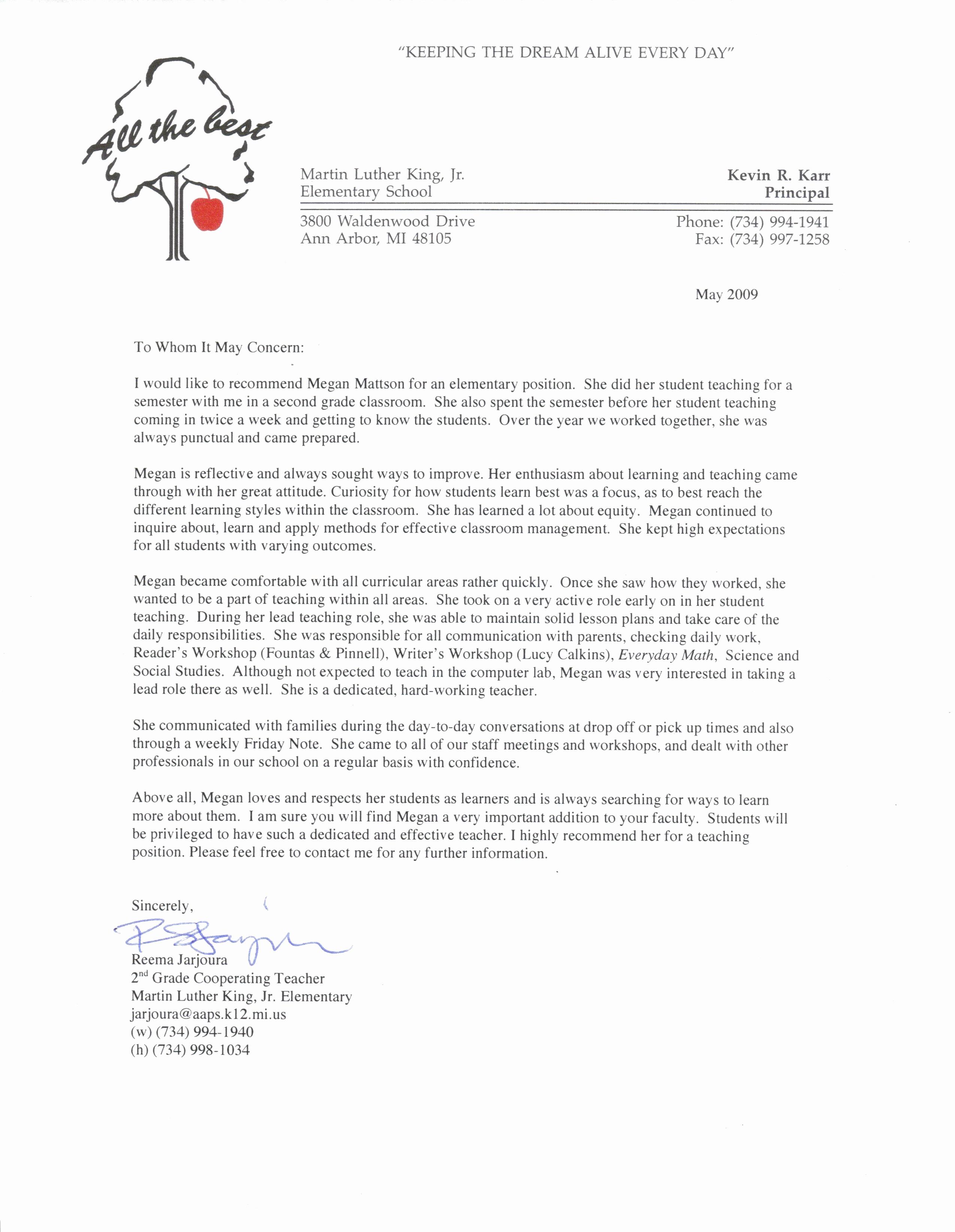 Reference Letter Sample for Teacher Inspirational Pin by Jobresume On Resume Career Termplate Free