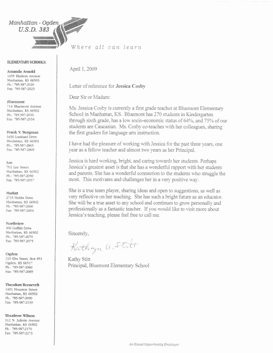 Reference Letter Sample for Teacher Lovely Letter Re Mendation for Student Teacher Elementary