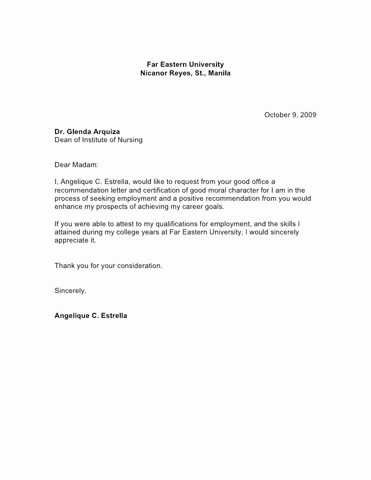 Reference Letter Template for Job Inspirational Re Mendation Letter Template Job Copy Example Reference