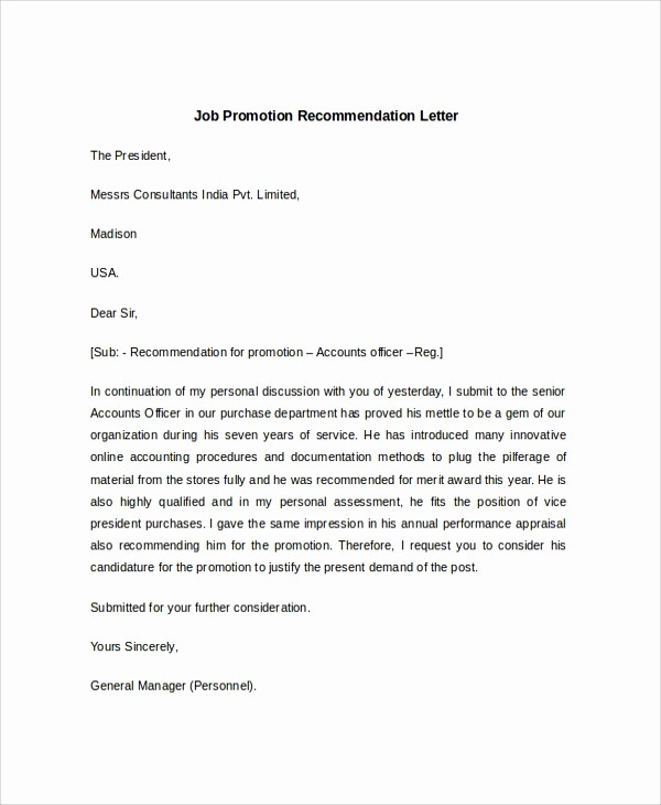 Reference Letter Template for Job Unique 7 Sample Job Re Mendation Letters