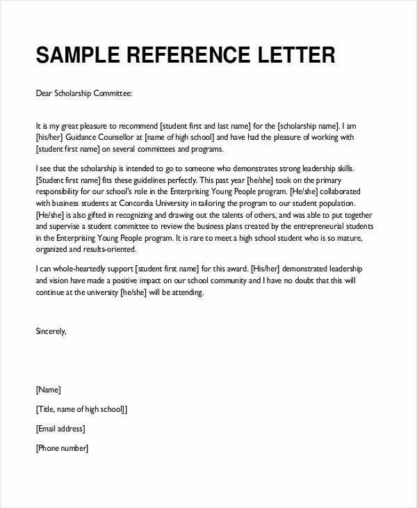 Reference Letter Template for Teacher Beautiful Sample Teacher Re Mendation Letter 8 Free Documents
