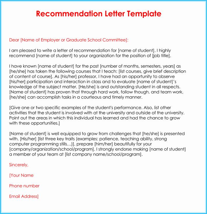Reference Letter Template for Teacher Beautiful Teacher Re Mendation Letter 20 Samples Fromats