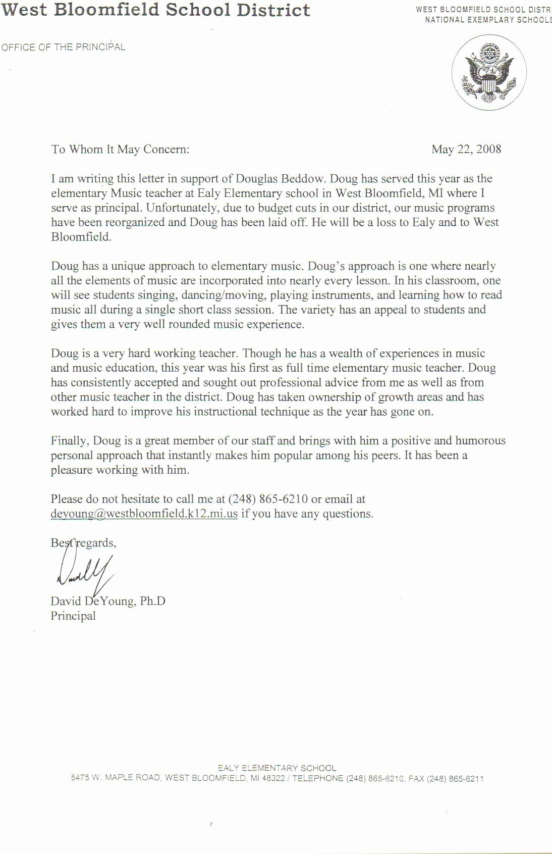 Reference Letter Template for Teacher Lovely Sample Letter Re Mendation for A Satisfactory Teacher