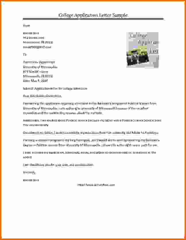 Reference Letters for College Admission Fresh College Application Reference Letter Sample Sample