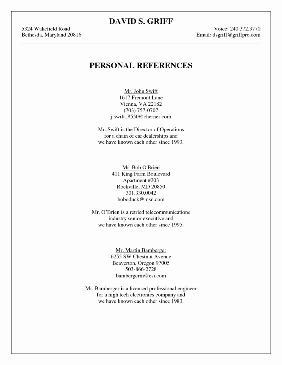 Reference List for A Job Unique How to Add References to You Resume – Perfect Resume format