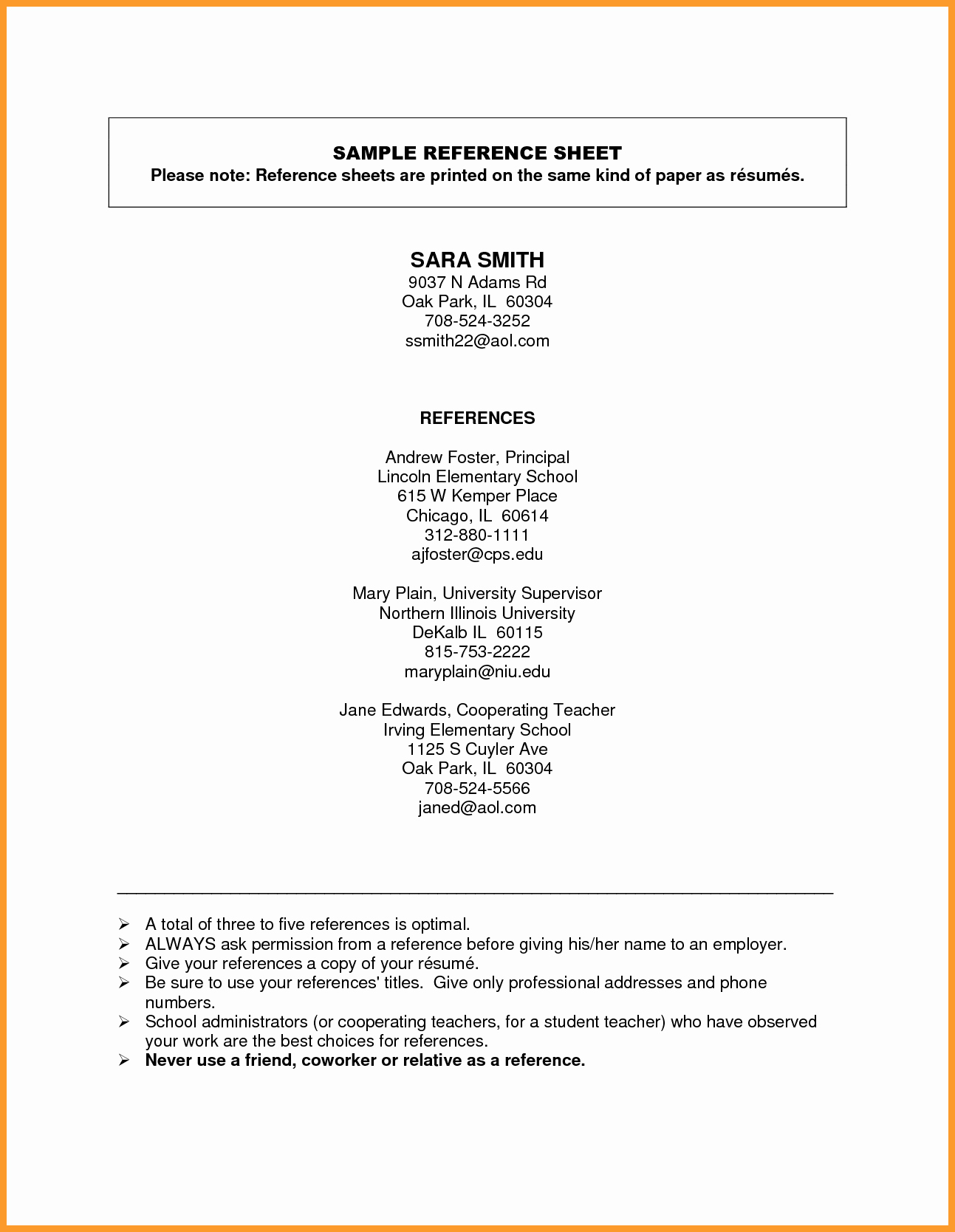 Reference List for Job Application Best Of Reference Page Template Free Cover Letter Samples