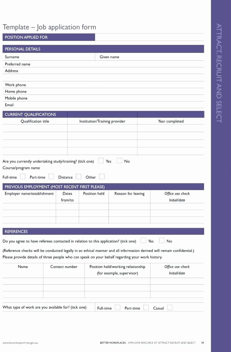 Reference List for Job Application Best Of Template New Hire Application Template