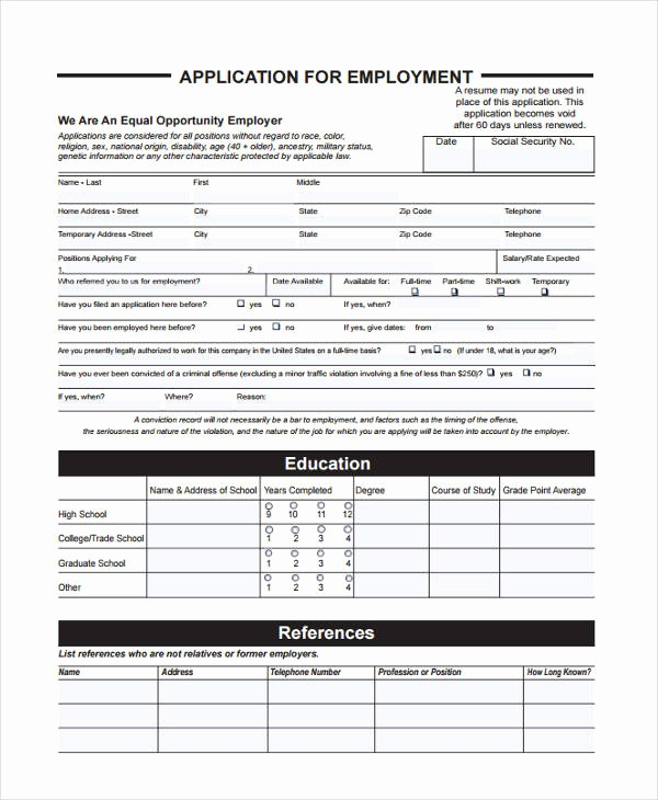 Reference List for Job Application Inspirational 33 Job Application Templates