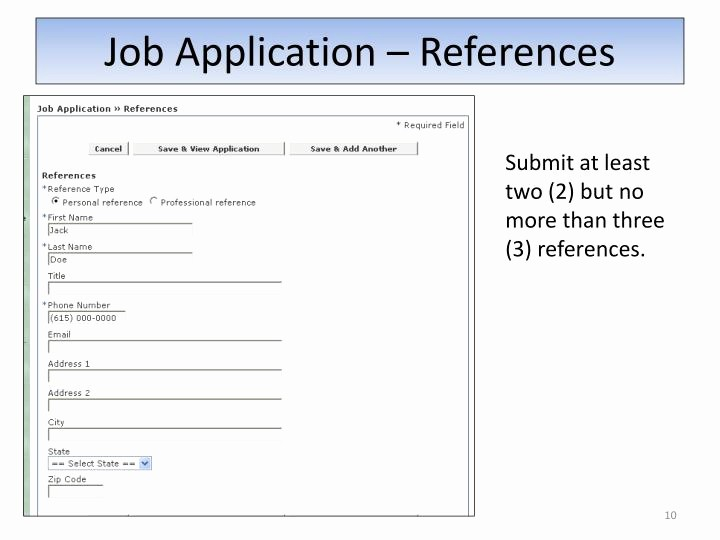 Reference List for Job Application Inspirational Ppt Applying On the Graduate associate Registry with the