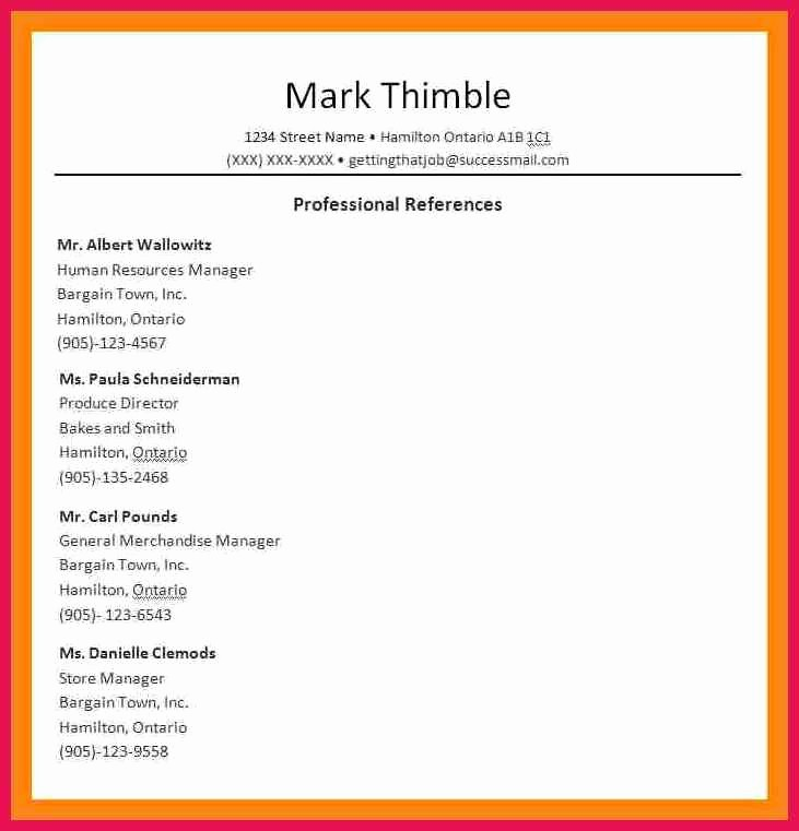 Reference List Template Microsoft Word Best Of Professional References format