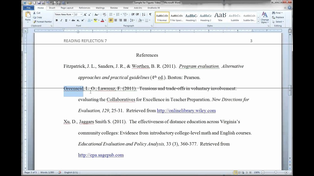 Reference List Template Microsoft Word Elegant formatting Apa Figures In Ms Word