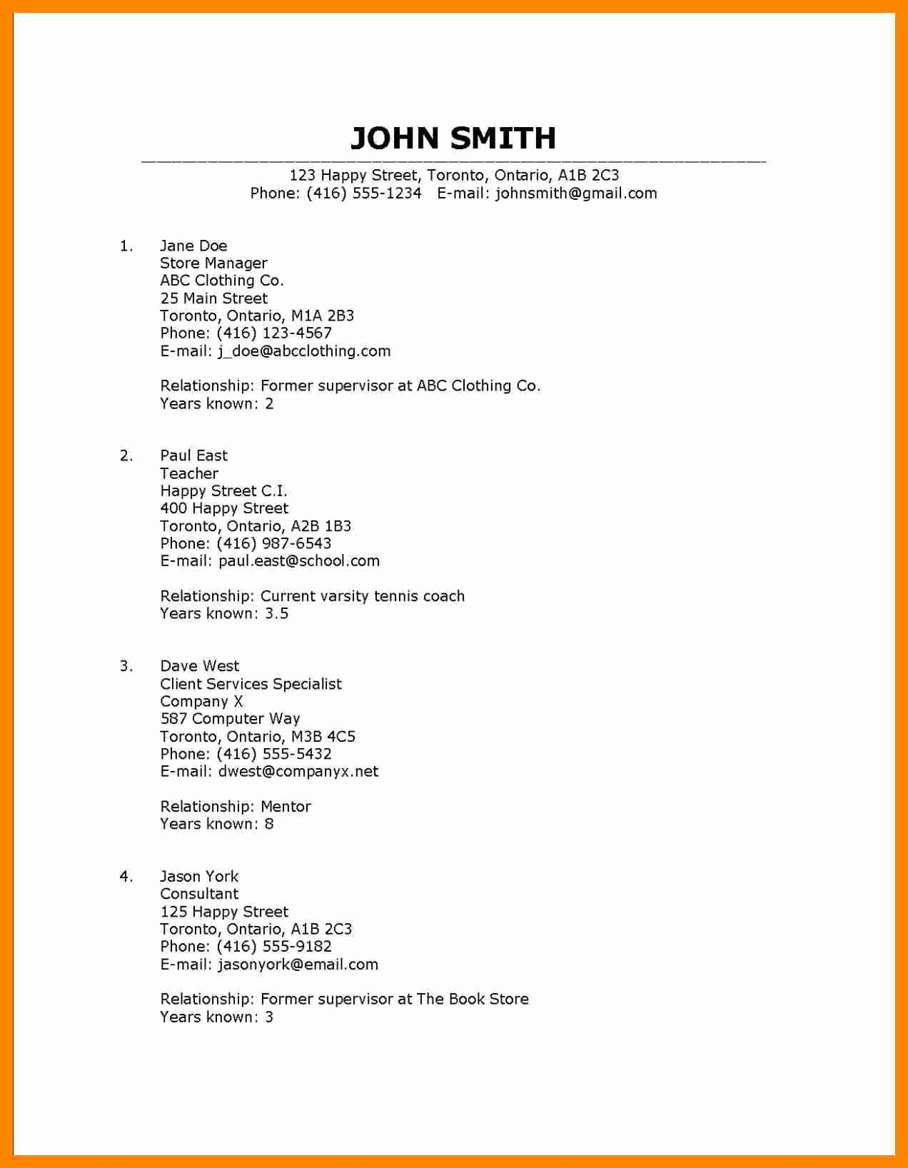 Reference List Template Microsoft Word Fresh Resume Resume Reference Template