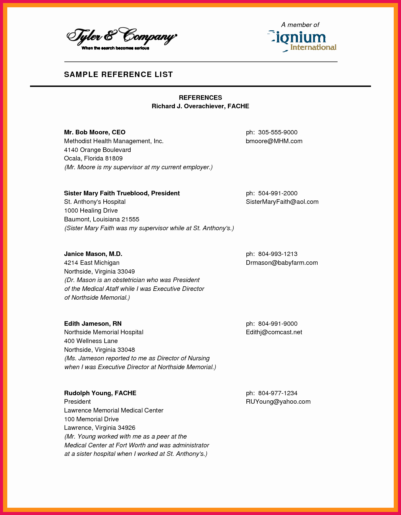 References Page format for Resume Fresh How to format A Reference List