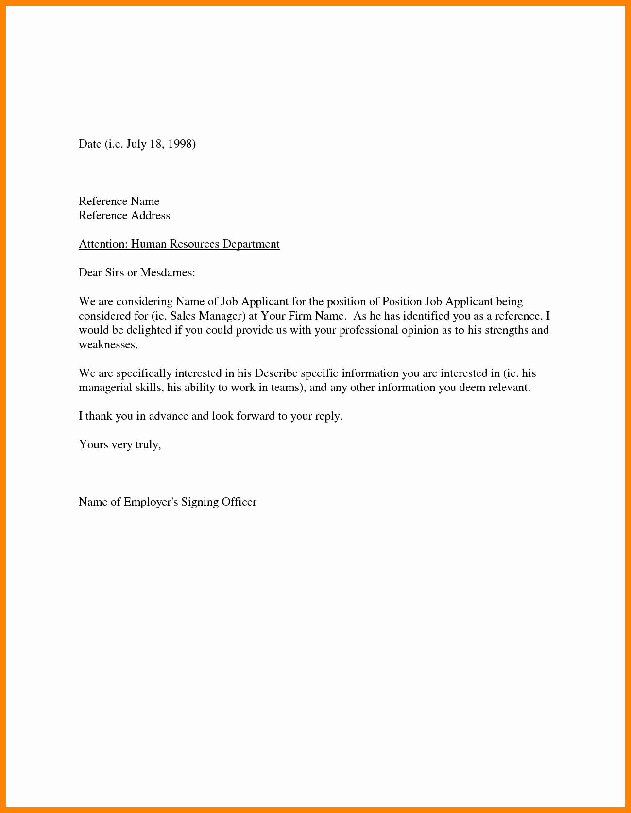 Referral Letter Sample For Employment Fresh Cover