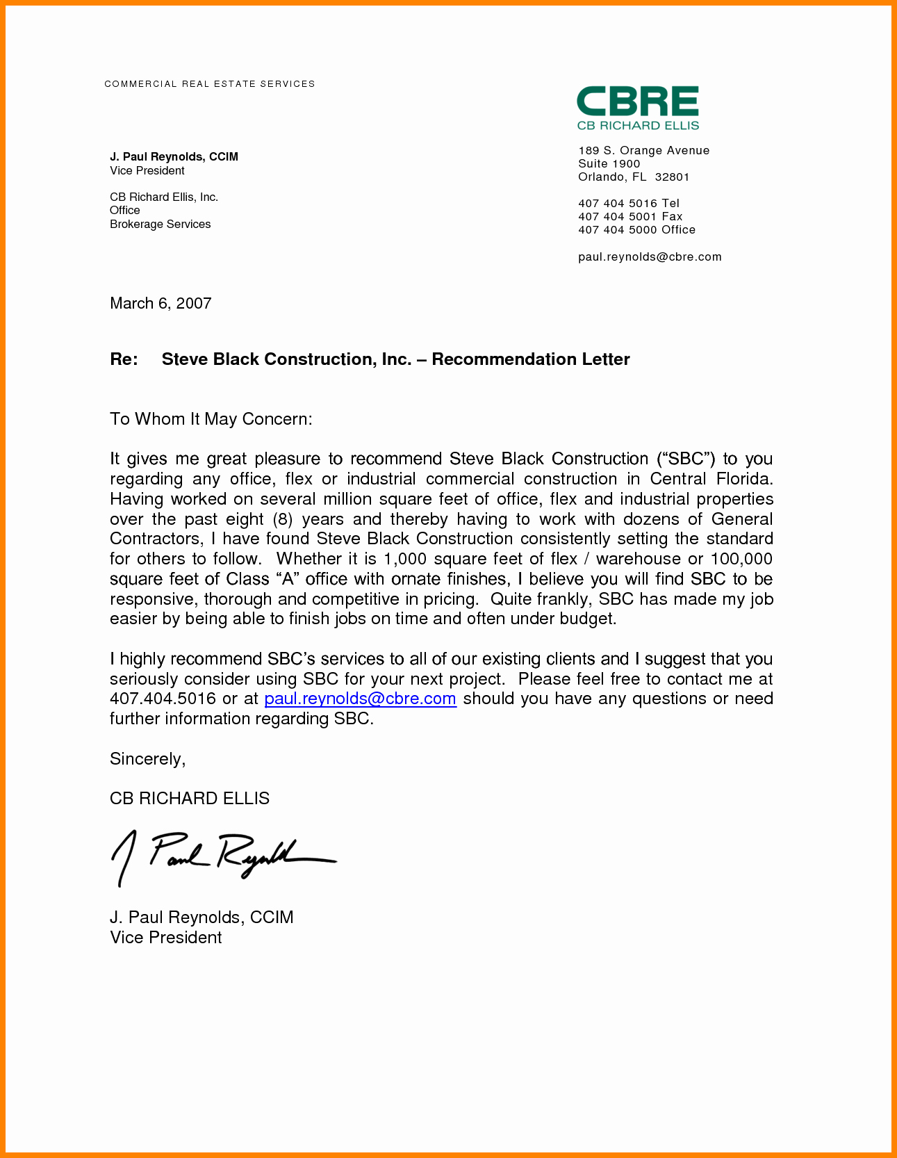 Referral Letter Sample for Employment Lovely 10 Job Re Mendation Letter for Student