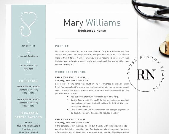 Registered Nurse Resume Template Word Awesome Nurse Resume Template for Word