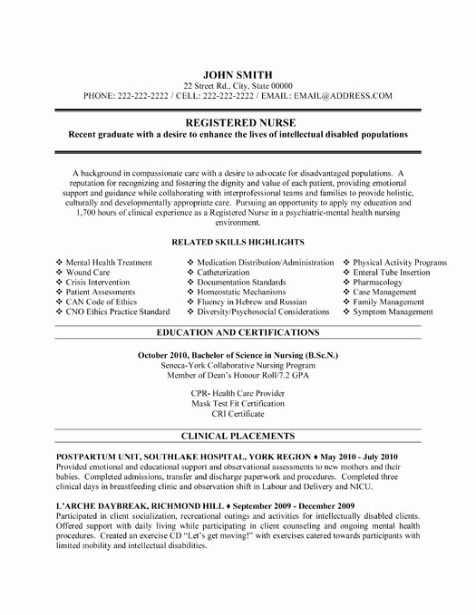 Registered Nurse Resume Template Word Beautiful Registered Nurse Resume Sample & Template
