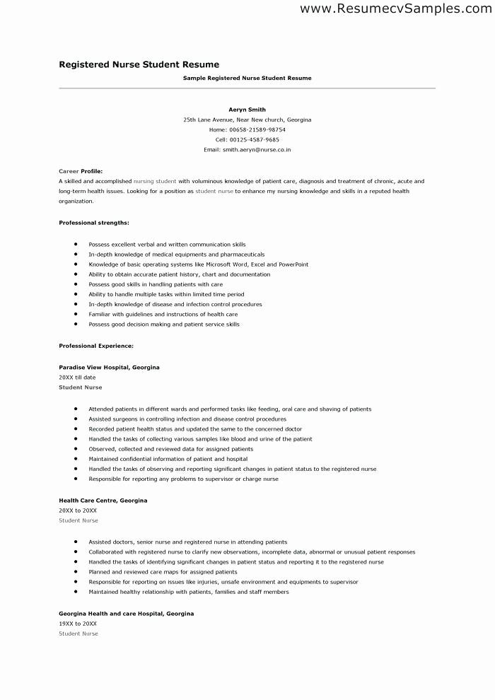 Registered Nurse Resume Template Word Elegant Registered Nurse Resume Template Word Nursing Resume