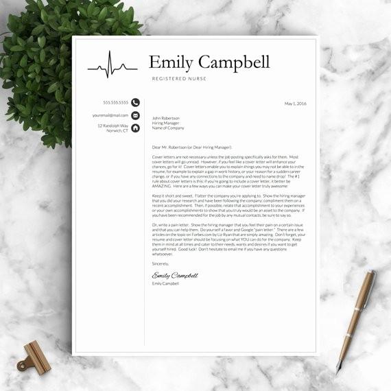 Registered Nurse Resume Template Word Lovely Nurse Resume Template for Word & Pages by Landeddesignstudio