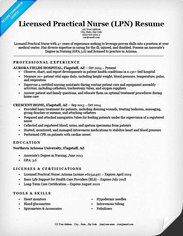 Registered Nurse Resume Template Word New Licensed Practical Nurse Lpn Resume Sample & Writing