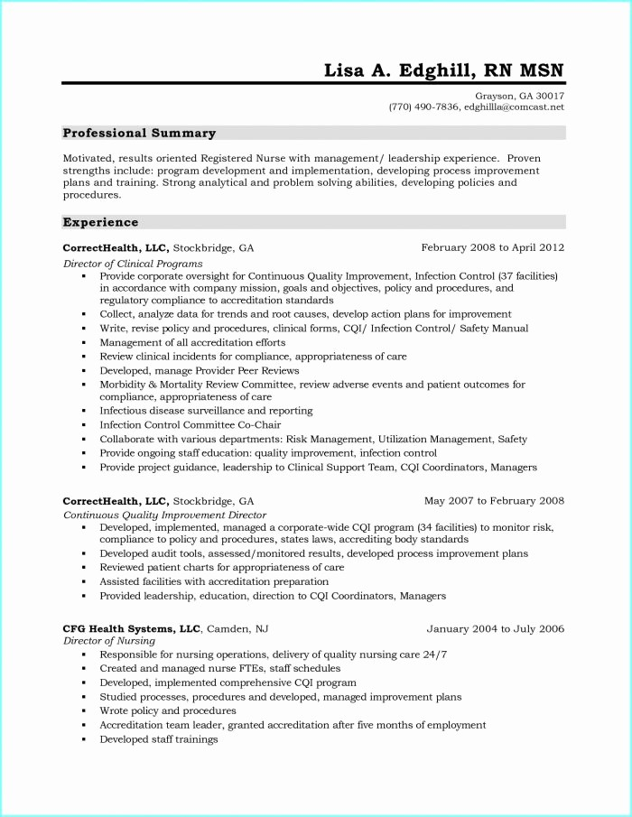 Registered Nurse Resume Template Word New Registered Nurse Resume Template Download Resume